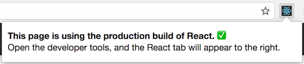 React DevTools on a website with production version of React